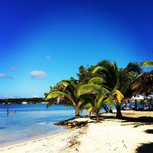 Bando Beach, Utila, Islas de la Bahía, Honduras.