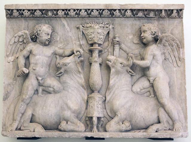 Forum Iulium: Erotes Sacrificing Bulls
