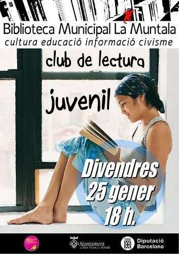 Club de lectura juvenil @ divendres 25 gener 18 h. by bibliotecalamuntala