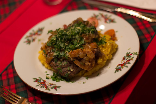 Osso Bucco with Gremolata and Risotto Milanese