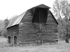 Barn with Gambrel Roof and Hay Hood