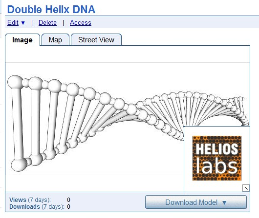Uploaded_DNA_DoubleHelix_3DWarehouse