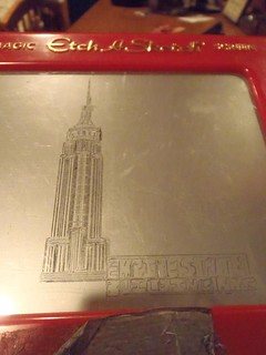 Etch-a-Sketch Empire State Building