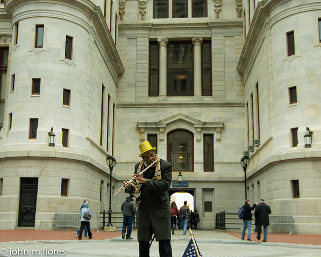 The Flutist of Philadelphia City Hall