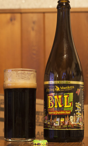 Review: Flying Monkeys' BNL Imperial Chocolate Stout (If I had a million dollars..) by Cody La Bière