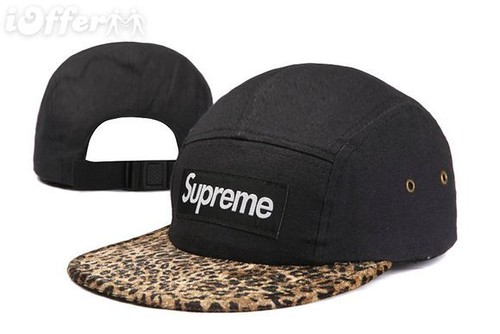 supreme-box-logo-5-panel-black-leopard-cap-hat-snapback-f118