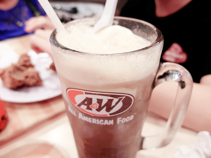 A&W root beer float