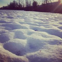 Snow dunes.