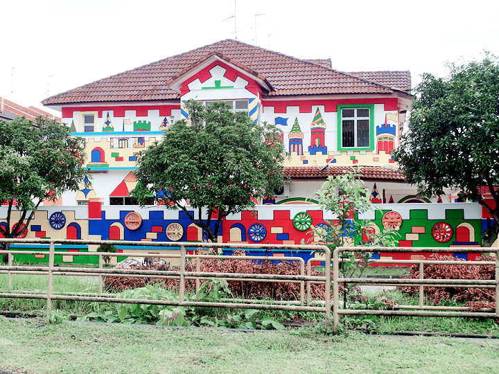colourful cute school