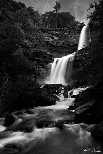 bw ny newyork nature water monochrome waterfall grand hike hunter catskills palenville iconic tiers kaaterskill 5dmkii christennantphotography