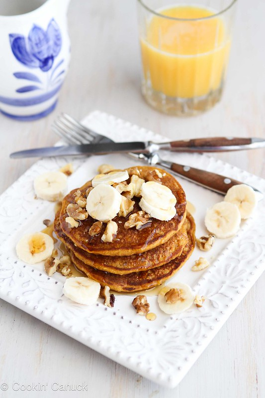 Whole Wheat Oat Gingerbread Pumpkin Pancake Recipe