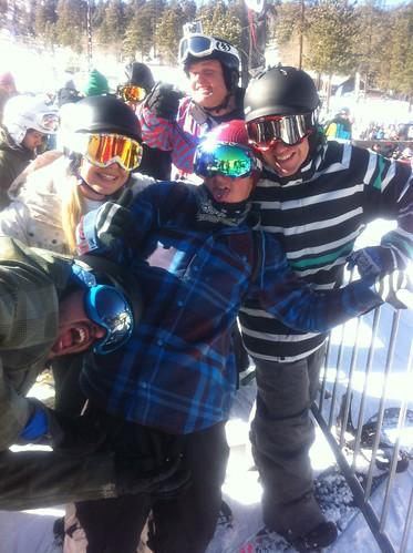 pro snowboarders.