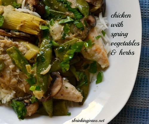 chicken with spring vegetables & herbs