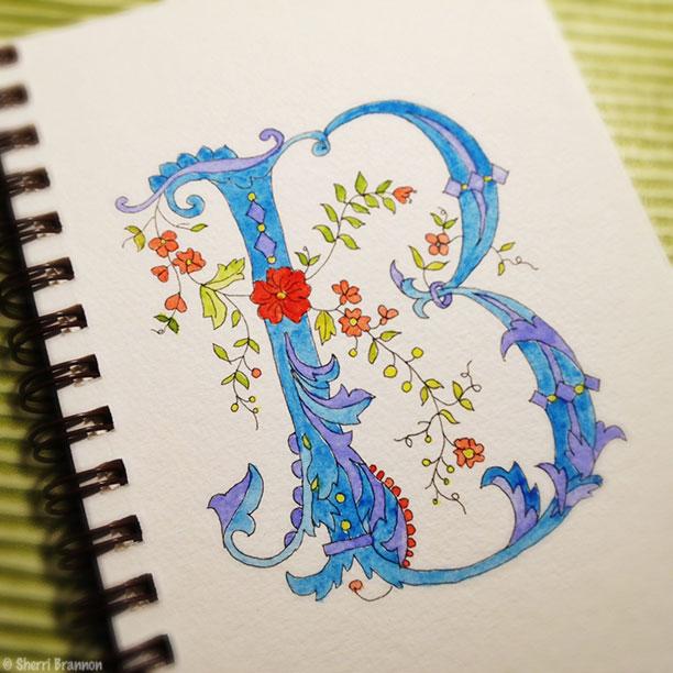 "floral ""b"""