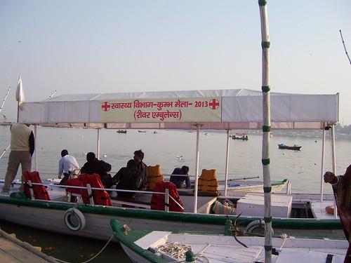 River ambulance at Kumbh Mela