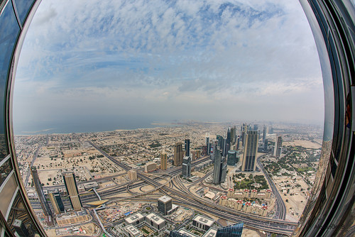 View from Burj Khalifa Observation deck