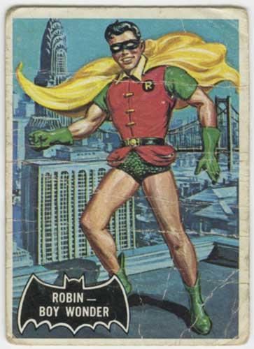 1966 Topps Batman Robin front