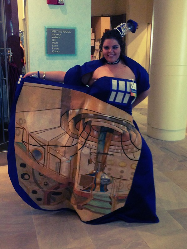 TARDIS dress.