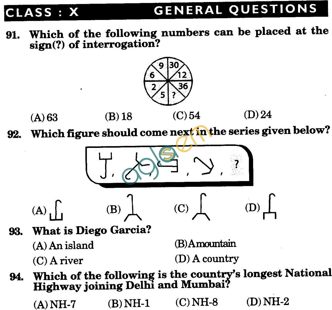 NSTSE 2010 Class X Question Paper with Answers - General Knowledge