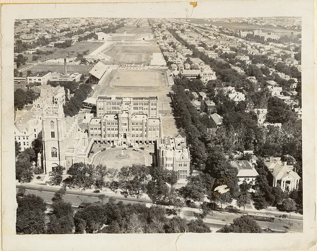Aerial Image of campus and football field - 1925