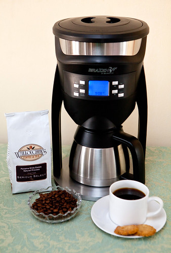 Brazen Variable Brewer and Willoughby's coffee beans