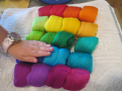 Summer Wet Felting: Rainbow#5