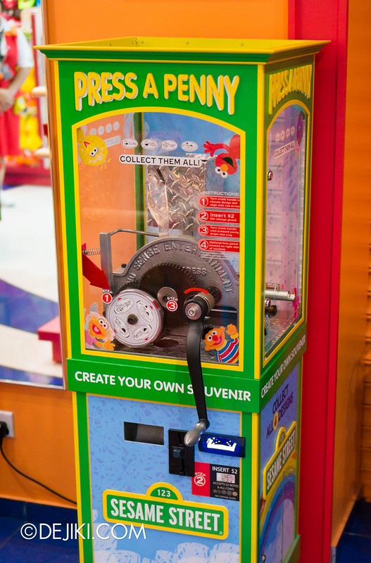 Sesame Street Press a Penny machine