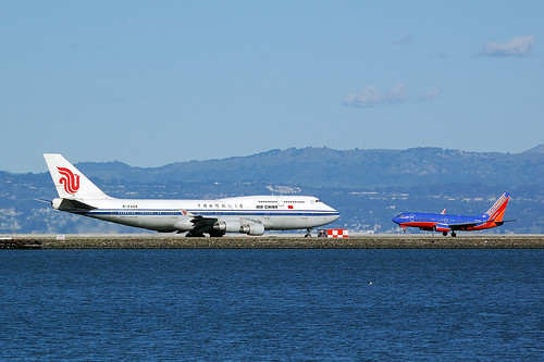 B-2468, B747-4J6M Air China, CA986 SFO - PEK, San Francisco International (SFO), 27. 1. 2013