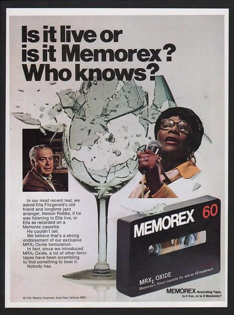 1974 MEMOREX 60 Cassette - NELSON RIDDLE - ELLA FITZGERALD VINTAGE AD | eBay