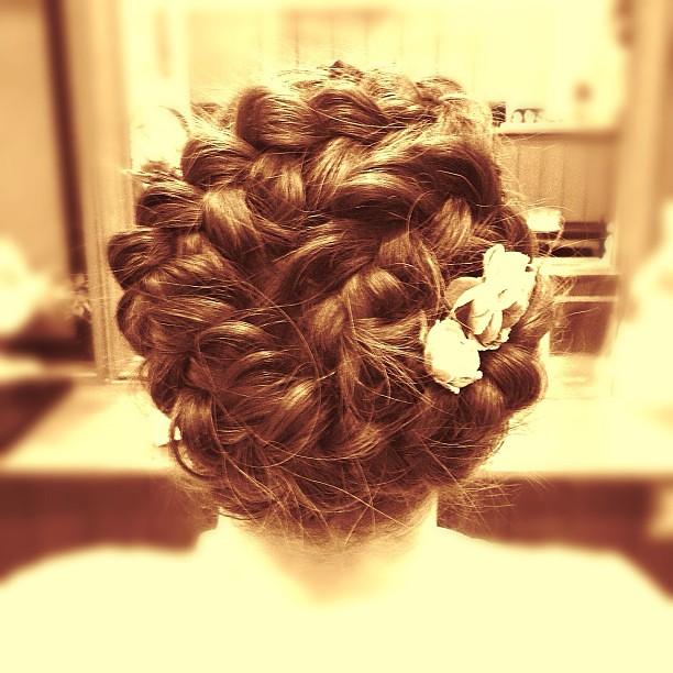 最新のヘアスタイル 髪型 三つ編み : #編み込み#三つ編み ...