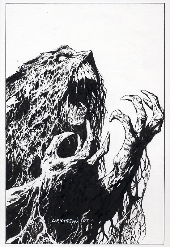 Swamp Thing agony by Wrightson