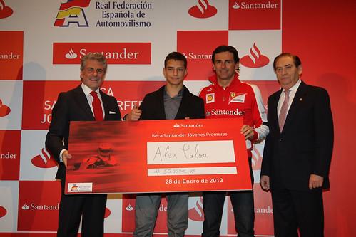IV Beca Santander Jóvenes Promesas y los trofeos del campeonato de España de karting de 2012