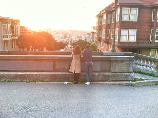 sunset on russian hill