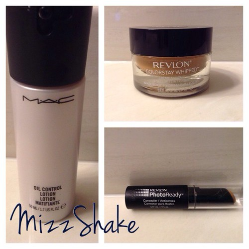 Loved these so much last month #MACOilControlLotion #RevlonColorStayWhippedFoundation #RevlonPhotoReadyConcealer #LoveAffairs #monthlyfavorites #beautyjunkie #makeupjunkie #beautyjunkie #bblogger #beautyblogger #beautyvlogger #youtube #youtuber #mizzshake