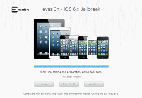 evasi0n iOS 6.x Jailbreak - official website of the evad3rs
