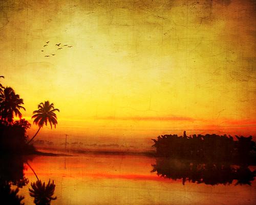sunrise dawn kerala textured alappuzha kuttanad aleppey