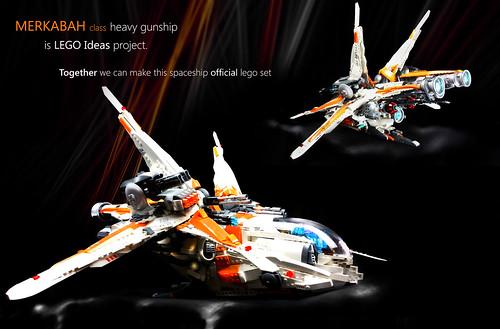 Merkabah gunship - LEGO Ideas project