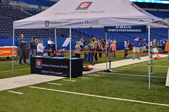 IU Health Sports Performance participated in on field activities during the 13th annual Bleed Blue Blood Drive.
