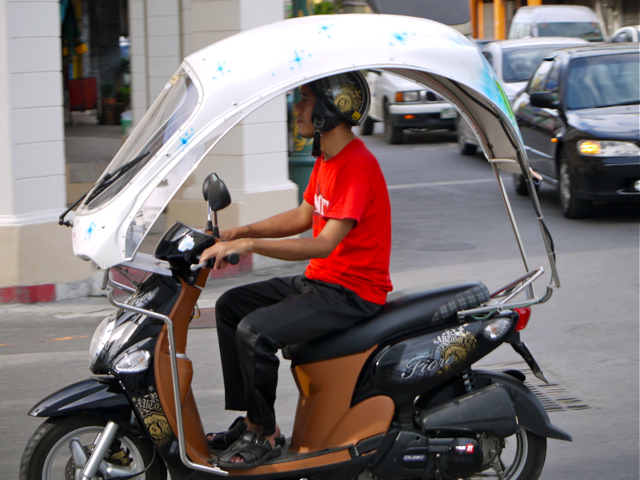 Any Three Wheeled Motor Bike With Roof In Thailand