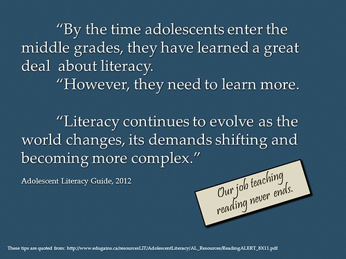 "Powerpoint Slide:  ""Literacy is ever evolving"""