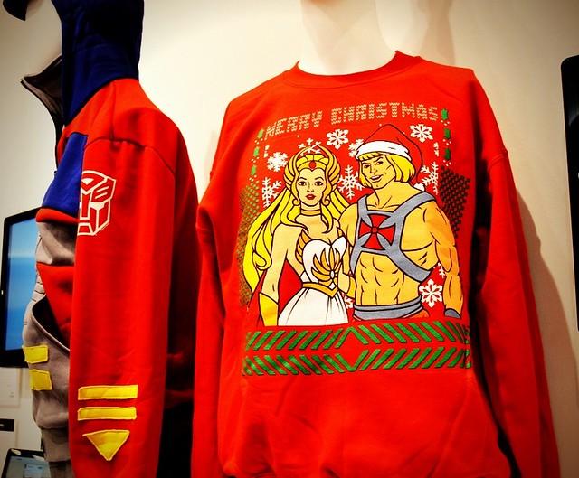 80steescom he man she ra christmas faux sweater - He Man Christmas Sweater