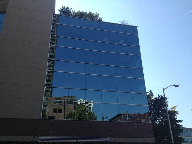 Reflective building, Belltown