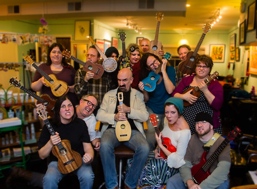 Lexingtones Ukulele Group Portrait by mrtoastey