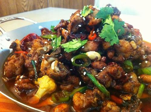 Sichuan chicken wok