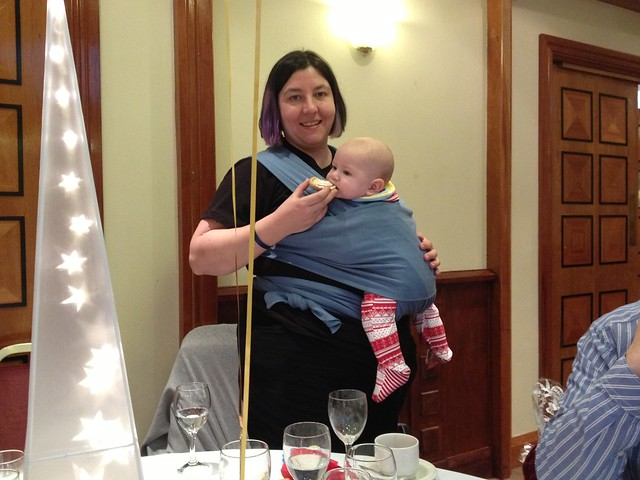 Baby-led weaning at work Christmas party