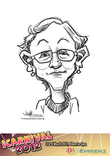 digital live caricature for iCarnival 2012  (IDA) - Day 1 - 3