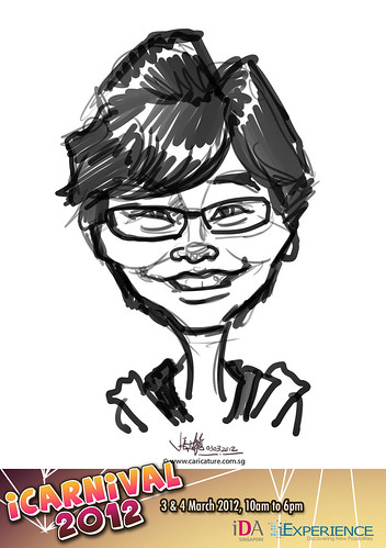 digital live caricature for iCarnival 2012  (IDA) - Day 1 - 31