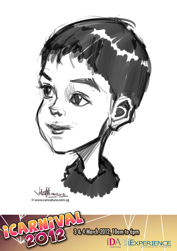 digital live caricature for iCarnival 2012  (IDA) - Day 2 - 20