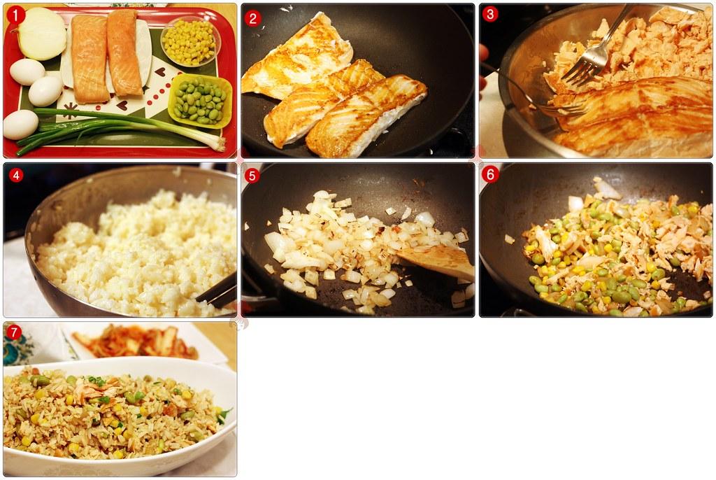 鮭魚炒飯 Salmon Fried Rice 2.2