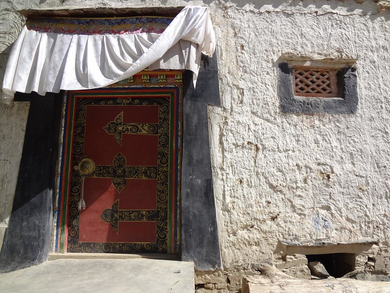 Fotografias de Portas Tibetanas em Shigatse